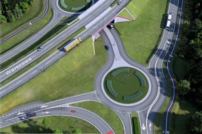 Wizualizacja nowego układu drogowego ulic; Krakowskiej, Alei Wojska Polskiego i Rejtana